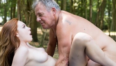 Sexy Youthfull Redhead Seducing Grandpa And Has Awesome Fuck-a-thon With Him