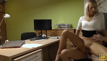 Loan4k. Warm Doll Nathaly Romped Rigid In Order To Pay For Her Debts