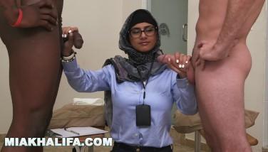 Mia Khalifa  Your Dearest Arab Adult Movie Star Draining 2 Peckers Just For Fun