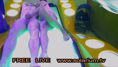 Real Duo Pummel On Public Solarium Live Hidden Cam Hidden Spy Cam