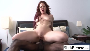 Sexy Redhead Jessica Can't Get Enough Interracial