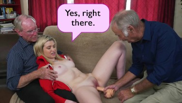Blue Pill Guys  Youthfull Stacie Gets Schooled By Trio Naughty Old Men