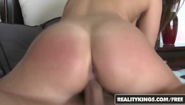 Reality Kings Guiltless Dark-haired Bella Luciano Romps For Her Very First Time On Camera