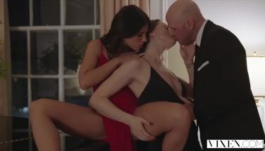 Vixen Tori Dark-hued And Adriana Chechik In The Best Three-way Ever Made