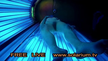 Blonde Teenage In Public Tanning Parlor With Reallifecam Filmed.real Hidden Cam Under Tanning Bed