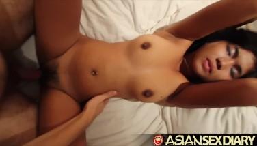 Asian Hook-up Diary  Bigboobed Teenage Filipina Gets Meaty Milky Cock