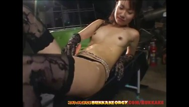 Classy Chinese Honey Gets Frosted With Jism  Chinese Mass Ejaculation Orgy