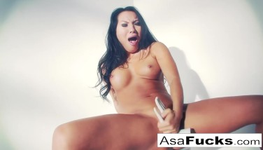 Asa Akira Uses A Faux Palm To Satisfy Her Pussy