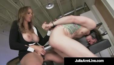 Busty Towheaded Mummy Julia Ann Pegs Her Boytoy As Payback