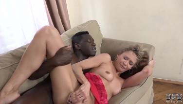 Nice Bi-racial Nail Inbetween Mature Platinum-blonde And Fellow With Huge Dark-hued Dick