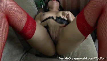 Sexy Latina Milks Her Edible Puss In Her Very First Time On Camera