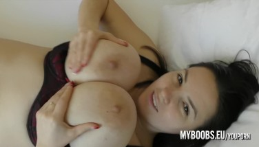 Waking Up With Talia Amanda In The Morning And Her Huge All-natural Udders Are The Starlet Of This Early Morning Salami Show