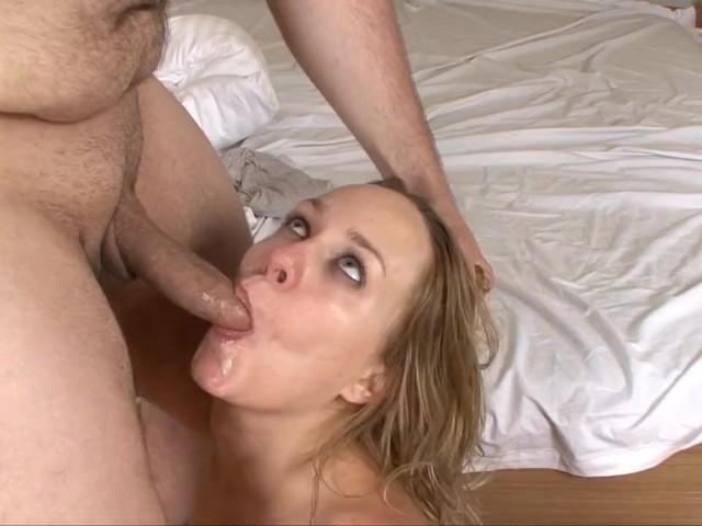 Blonde Cum Mouth Blowjob