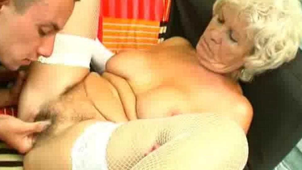Chubby Blonde Blowjob Tit Fuck
