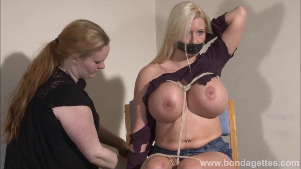 Tape Ball-gagged German Fetish Model Melanie Moons Restrain Bondage And  Girl-on-girl Cord Works Of Dominatrix Xinran On Big-boobed Lady In Distress  (06:50) ...