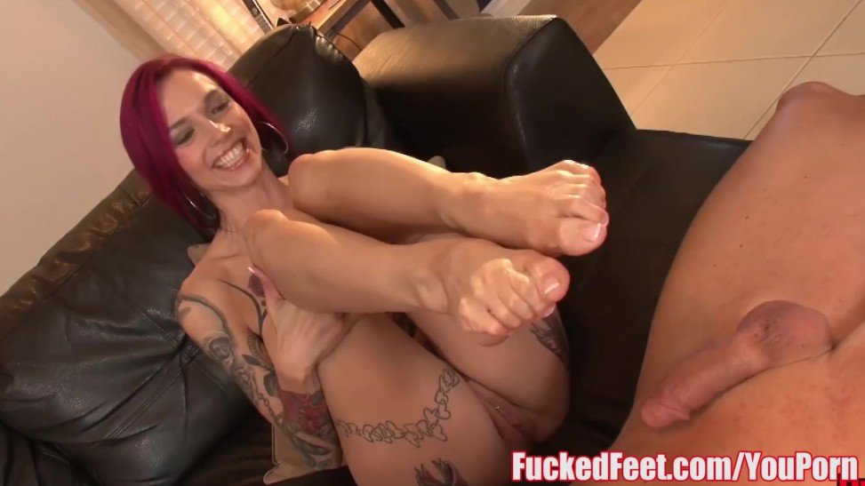 Red Head Anna Bell Peaks Gives Impressive Footjob In Boned Soles Scene  (10:00) - Letmejerk.com