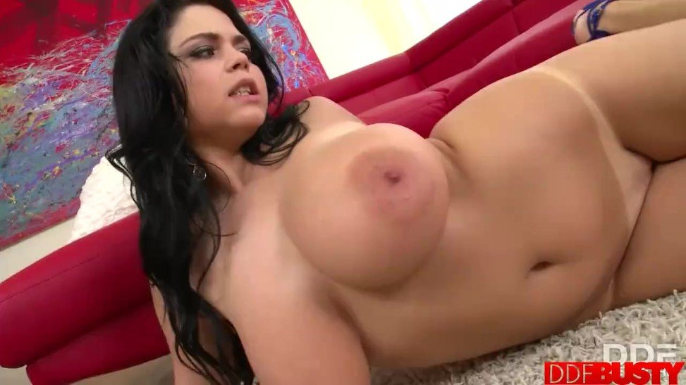 Busty Rich Dame Shione Cooper Delights Her Tanlined Pussy ...